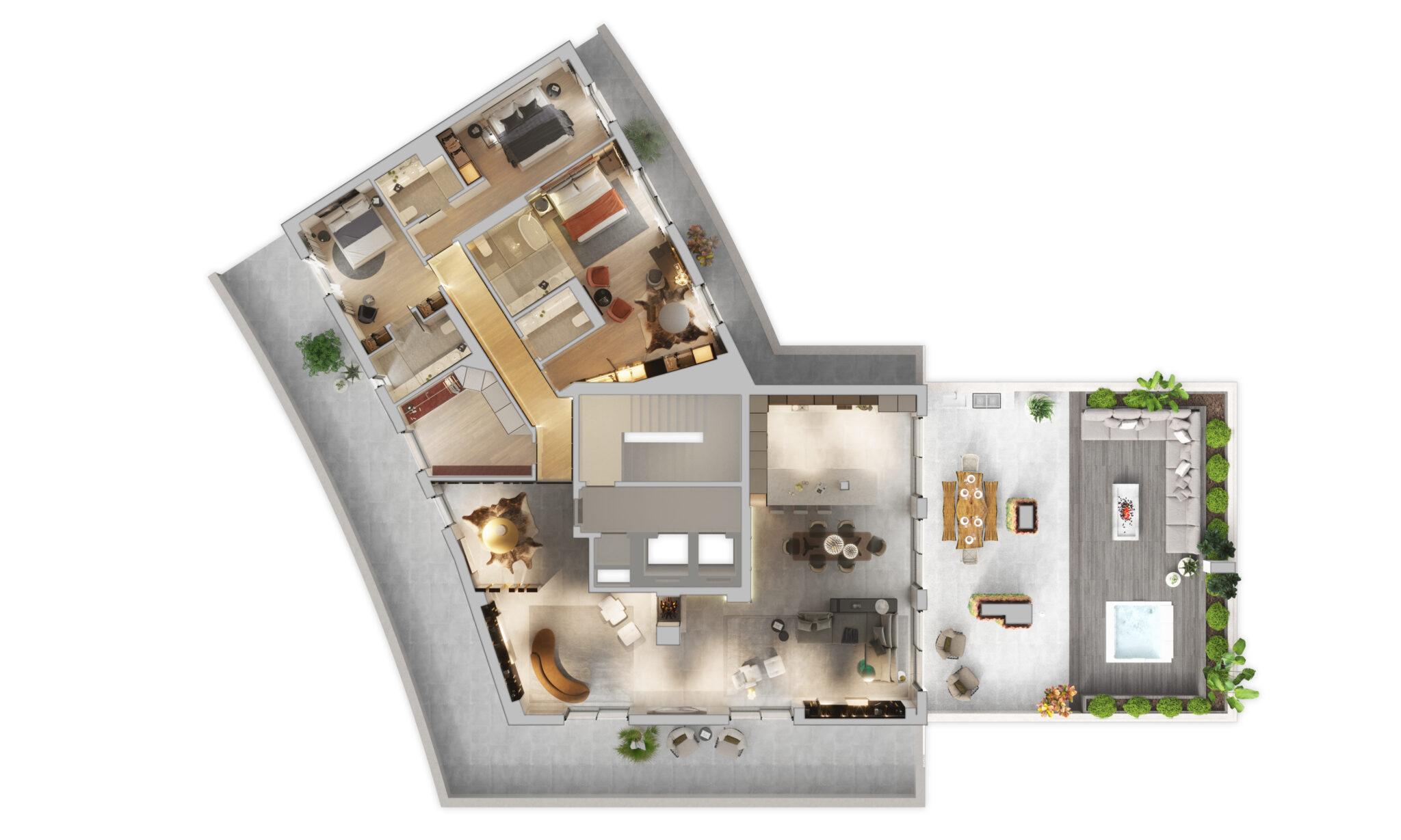 planta 3D, imobiliário de luxo, lisboa, parque das nações